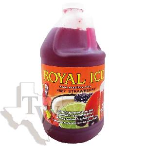Royal ice strawberry slushy 1/2 gallon