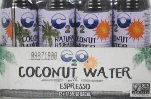 C2o pure coconut water w/espresso 12ct 17.5oz