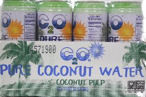 C2o pure coconut water w/pulp 12ct 17.5oz