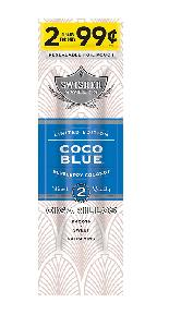 Swisher sweet coco blue  2/.99 f.p. 30/2pk ltd ed