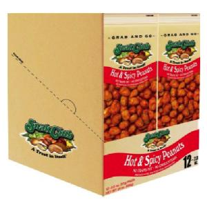 Snak club grab/go hot & spicy peanuts 12ct 2oz