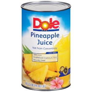 Dole pineapple juice 46oz 12ct