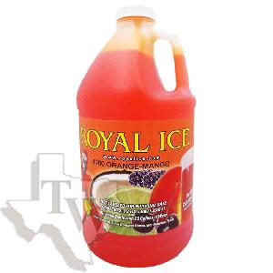 Royal ice orange mango slushy 1/2 gallon