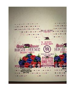 High hemp bare berry organic wraps 25/2pk