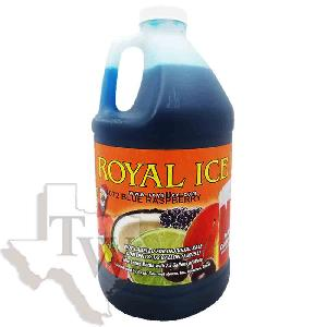 Royal ice blue raspberry slushy 1/2 gallon