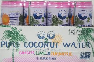 C2o pure coconut water w/gingr lime 12ct 17.5oz