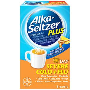 Alka seltzer plus day severe cold flu honey lemon 6ct